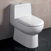 Antila One-Piece Dual Flush Toilet, Soft Close Seat, 0.8/1.6 GPF Capacity, 15-1/4''W x 26-1/4''D x 26-5/8''H