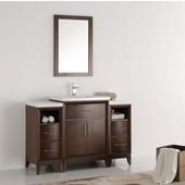 Cambridge 48'' Antique Coffee Traditional Bathroom Vanity with Mirror, Dimensions of Vanity: 48'' W x 18-5/16'' D x 33-2/5'' H