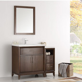Cambridge 42'' Antique Coffee Traditional Bathroom Vanity with Mirror, Dimensions of Vanity: 42'' W x 18-5/16'' D x 33-2/5'' H