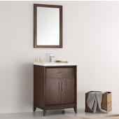 Cambridge 24'' Antique Coffee Traditional Bathroom Vanity with Mirror, Dimensions of Vanity: 24'' W x 18-5/16'' D x 33-2/5'' H