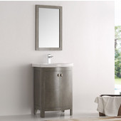Greenwich 24'' Antique Silver Traditional Bathroom Vanity, Dimensions of Vanity: 24-3/5'' W x 19'' D x 34-4/5'' H