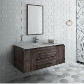 Formosa 48'' Wall Hung Modern Bathroom Vanity Set w/ Mirror, Base Cabinet: 48'' W x 20-3/8'' D x 20-5/16'' H