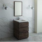 Formosa 24'' Floor Standing Modern Bathroom Vanity Set w/ Mirror, Base Cabinet: 24'' W x 20-3/8'' D x 34-7/8'' H