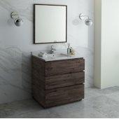 Formosa 36'' Floor Standing Modern Bathroom Vanity Set w/ Mirror, Base Cabinet: 36'' W x 20-3/8'' D x 34-7/8'' H