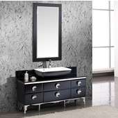 Moselle 59'' Modern Glass Bathroom Vanity with Mirror, Dimensions of Vanity: 59-1/4'' W x 18'' D x 34'' H