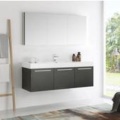 Vista 60'' Black Wall Hung Single Sink Modern Bathroom Vanity with Medicine Cabinet, Dimensions of Vanity: 59'' W x 18-7/8'' D x 21-5/8'' H