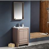 Allier 24'' Gray Oak Modern Bathroom Vanity with Mirror, Dimensions of Vanity: 23-1/2'' W x 18-1/2'' D x 33-1/2'' H