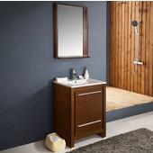 Allier 24'' Wenge Brown Modern Bathroom Vanity with Mirror, Dimensions of Vanity: 23-1/2'' W x 18-1/2'' D x 33-1/2'' H