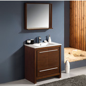 Allier 30'' Wenge Brown Modern Bathroom Vanity with Mirror, Dimensions of Vanity: 29-1/2'' W x 18-1/2'' D x 33-1/2'' H