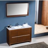 Allier 48'' Wenge Brown Modern Bathroom Vanity with Mirror, Dimensions of Vanity: 47-1/4'' W x 18-1/2'' D x 33-1/2'' H