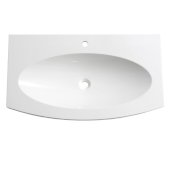 Energia 36'' White Integrated Sink / Countertop, 36'' W x 20-3/8'' D x 2'' H
