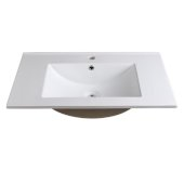 Torino 30'' White Integrated Sink / Countertop, 30'' W x 18-1/8'' D x 5/8'' H