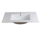 Torino 36'' White Integrated Sink / Countertop, 35-3/4'' W x 18-1/8'' D x 5/8'' H