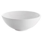 Adour White Vessel Sink, 15-1/2'' Diameter x 6'' H