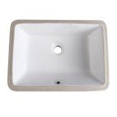 Allier White Undermount Sinks, 19-1/4'' W x 14-3/8'' D x 7-1/2'' H