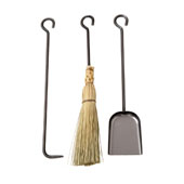 3 Piece Long Tool Set, Hammered Steel