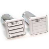 Fantech 5'' Plastic Supply & Exhaust Wall Cap (pair)