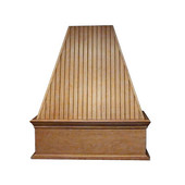 Bead Board Island Mount Wood Hood, Multiple Sizes & Finishes Available (CFM depends on choice of blower, not included)