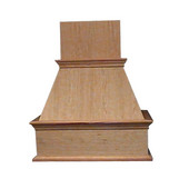 Decorative Island Mount Wood Range Hood, Multiple Sizes & Finishes Available (CFM depends on choice of blower, not included)
