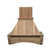 Arched Corbel Island Mount Wood Range Hood, Multiple Sizes & Finishes Available (CFM depends on choice of blower, not included)