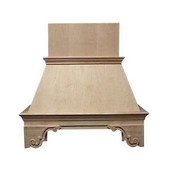 Emperor Wall Mount Wood Range Hood, Different Sizes & Finishes Available (CFM depends on choice of blower, not included)