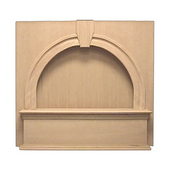 36'' Keystone Bead Board Mantle Wall Mount Wood Range Hood, Maple (CFM depends on choice of blower, not included)