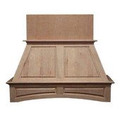 Double Panel Island Mount Wood Hood, Multiple Sizes & Finishes Available (CFM depends on choice of blower, not included)