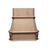 Victorian Island Mount Wood Range Hood, Multiple Sizes & Finishes Available (CFM depends on choice of blower, not included)