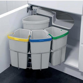 ''ENVI Center'' Ultimate Recycling Station, 4 Bins, Grey Bins, Min. Cabinet Opening: 19-11/16'' Wide