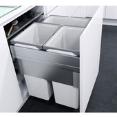 ''ENVI Space XX Pro'' Easy Close Waste Bin System for 24'' (600mm) Cabinet w/ 3 Grey Bins