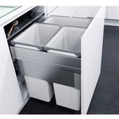 ''ENVI Space XX Pro'' Easy Close Waste Bin System for 24'' (600mm) Cabinet w/ 3 Grey Bins