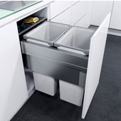 ''ENVI Space XX Pro'' Easy Close Waste Bin System for 18'' (450mm) Cabinet w/ 2 Grey Bins