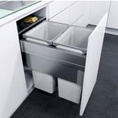 ''ENVI Space XX Pro'' Easy Close Waste Bin System for 18'' (450mm) Cabinet w/ 2 Grey Bins