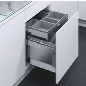 ''ENVI Drawer'' Organizational Drawer for 600mm Cabinet, 1 small and 1 large dish, Grey Plastic
