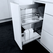 18-3/4'' ''SUB Side'' Pullout Pantry Storage Set for European Style Cabinets
