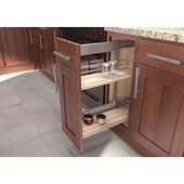 19-3/4'' ''SUB Side'' Pullout Pantry Storage Set with 9'' Baskets in Scalea / Maple Silver Finish