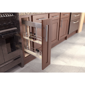 25'' ''SUB Side'' Pullout Pantry Storage Set with 5'' Baskets in Scalea / Maple Silver Finish