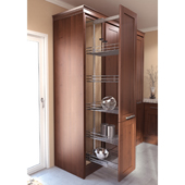 ''TAL Larder HSA'' Pullout Pantry Organizer Set with 4 Saphir Storage Baskets, 47-1/4'' to 57'' Minimum Cabinet Height