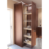 ''TAL Larder HSA'' Pullout Pantry Organizer Set with 4 Scalea Storage Baskets, 47-1/4'' to 57'' Minimum Cabinet Height