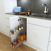 8-1/2'' WIRO Bottom Mount Pull Out Cabinet Storage in Chrome Finish