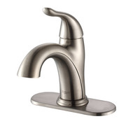 Arcus Satin Nickel Single Lever Basin Faucet, 7-1/5''H