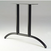 Arched Double T-Shaped Table Leg, 27-3/4'' H x 36'' D, 20 lbs, Black