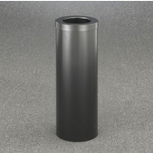 Glaro Funnel Top 10'' Diameter Waste Receptacle in Satin Black, 10'' Diameter x 29'' H