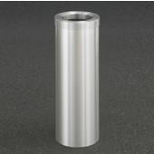 Glaro Funnel Top 10'' Diameter Waste Receptacle in Satin Aluminum, 10'' Diameter x 29'' H