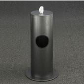 Glaro Floor Standing 10'' Diameter Waste Bin with Disinfecting Wipe Dispenser Combo in Silver Vein