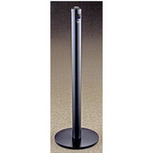 Glaro Value Series Floor Standing Indoor/Outdor Ash Receptacle in Black, 3'' Dia x 43-1/2'' H, Shown in Black with Many Other Colors Available