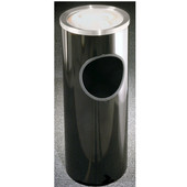Glaro Mount Everest Series Satin Aluminum Sand Cover Ash/Trash Receptacle in Black, 9'' Dia x 23'' H, 3 Gal, Shown in Black 3 Gallon Model with Many Others Sizes & Colors Available