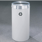 Glaro RecyclePro Matching Powder Coat Cover Paper Recycling Receptacle, 33 Gal, 20'' Dia, , Available in Multiple Colors, Shown with Aluminum Cover in Unavailable Finish