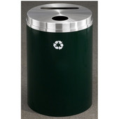 Glaro RecyclePro Matching PC Cover Dual Purpose Recycle Receptacle in Satin Black Finish, Shown in Hunter Green with Many Other Finishes Available