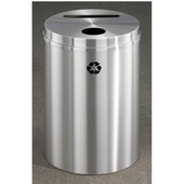 Glaro RecyclePro Satin Aluminum Cover Dual Purpose Recycle Receptacle in Satin Black Finish, Shown in Satin Aluminum with Many Other Finishes Available